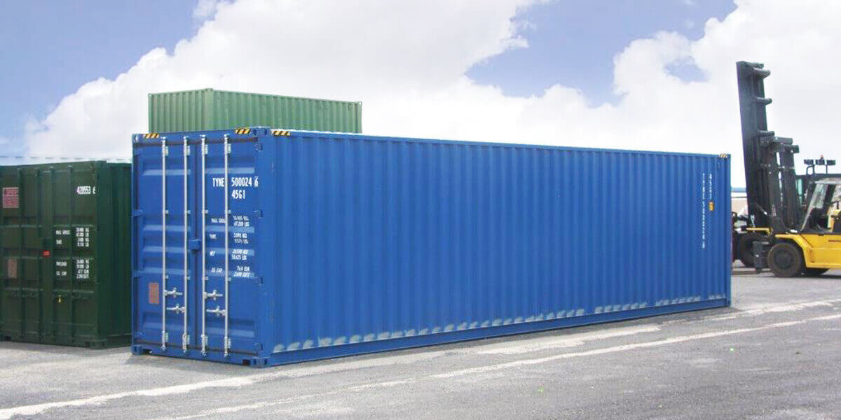 40 ft container blue